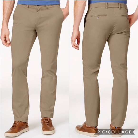 3c6236bbb Tommy Hilfiger Pants | Mens Stretch Slim Fit Chino | Poshmark